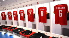 DOHA, QATAR - FEBRUARY 08: A general view inside the Al Ahly SC dressing room prior to the Semi-Final match between Al Ahly SC and FC Bayern Muenchen at the Ahmad Bin Ali Stadium on February 08, 2021 in Doha, Qatar. (Photo by David Ramos - FIFA/FIFA via Getty Images)