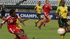 Canada go for goal against Jamaica in the CONCACAF U-17 Women's Championship.