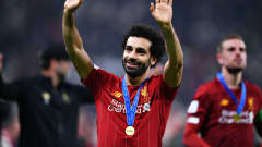 Mohamed Salah of Liverpool celebrates after the FIFA Club World Cup 2019 final