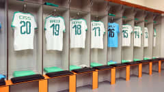 BIELSKO-BIALA, POLAND - JUNE 08: A general view inside the Senegal dressing room ahead of the 2019 FIFA U-20 World Cup Quarter Final match between Korea Republic and Senegal at Bielsko-Biala Stadium on June 08, 2019 in Bielsko-Biala, Poland. (Photo by Alex Livesey - FIFA/FIFA via Getty Images)