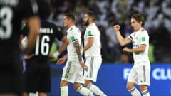 ABU DHABI, UNITED ARAB EMIRATES - DECEMBER 22: Luka Modric of Real Madrid celebrates after scoring his tea's first goal during the FIFA Club World Cup UAE 2018 Final between Al Ain and Real Madrid at the Zayed Sports City Stadium on December 22, 2018 in Abu Dhabi, United Arab Emirates.  (Photo by David Ramos - FIFA/FIFA via Getty Images)