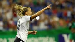 MONTREAL, QC - AUGUST 24:  Lena Petermann of Germany celebrates after scoring the first goal during the FIFA U-20 Women's World Cup 2014 final match between Nigeria and Germany at Olympic Stadium on August 24, 2014 in Montreal, Canada.  (Photo by Martin Rose - FIFA/FIFA via Getty Images)
