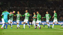 YOKOHAMA, JAPAN - DECEMBER 18:  Atletico Nacional team celebrate victory following the penalty shoot out during the FIFA Club World Cup 3rd Place match between Club America and Atletico Nacional at International Stadium Yokohama on December 18, 2016 in Yokohama, Japan.  (Photo by Shaun Botterill - FIFA/FIFA via Getty Images)