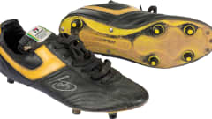 Brazil midfielder Socrates' boots from 1986 FIFA World Cup Mexico, housed at the FIFA World Football Museum