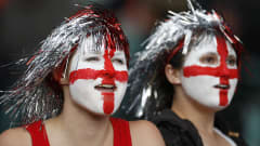 England fans cheer for their team