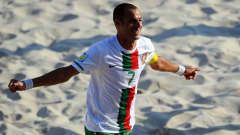 Madjer of Portugal celebrates after scoring his teams first goal during the FIFA Beach Soccer World Cup 3rd Place Playoff match between El Salvador and Portugal at Stadium del Mare on September 11, 2011 in Ravenna, Italy. (Photo by Lars Baron - FIFA/FIFA via Getty Images)