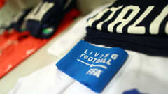 GDYNIA, POLAND - JUNE 11: A captain's armband is seen next to the kit of Andrea Pinamonti of Italy inside the Italy dressing room ahead of the 2019 FIFA U-20 World Cup Semi Final match between Ukraine and Italy at Gdynia Stadium on June 11, 2019 in Gdynia, Poland. (Photo by Lars Baron - FIFA/FIFA via Getty Images)