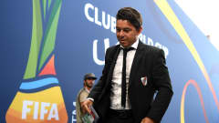 ABU DHABI, UNITED ARAB EMIRATES - DECEMBER 22:  Marcelo Gallardo, Manager of River Plate arrives at the stadium prior to the FIFA Club World Cup UAE 2018 3rd Place match between River Plate and Kashima Antler at the Zayed Sports City Stadium on December 22, 2018 in Abu Dhabi, United Arab Emirates.  (Photo by Michael Regan - FIFA/FIFA via Getty Images)