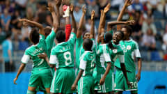 BIELEFELD, GERMANY - AUGUST 01:  The team of Nigeria gets together before the FIFA U20 Women's World Cup Final match between Germany and Nigeria at the FIFA U-20 Women's World Cup stadium on August 1, 2010 in Bielefeld, Germany.  (Photo by Friedemann Vogel - FIFA/FIFA via Getty Images)