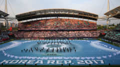 JEONJU, SOUTH KOREA - MAY 20:  The opening ceremony is held prior to the FIFA U-20 World Cup Korea Republic 2017 group A match between Korea Republic and Guinea at Jeonju World Cup Stadium on May 20, 2017 in Jeonju, South Korea.  (Photo by Robert Cianflone - FIFA/FIFA via Getty Images)