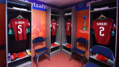 VILNIUS, LITHUANIA - SEPTEMBER 26: General view inside of the changing rooms of Morocco ahead of the FIFA Futsal World Cup 2021 Quarter Final match between Morocco and Brazil at Vilnius Arena on September 26, 2021 in Vilnius, Lithuania. (Photo by Alex Caparros - FIFA/FIFA via Getty Images)