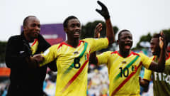 Diadie Samassekou of Mali celebrates after scoring a goal during the FIFA U-20 World Cup Third Place Play-off match between Senegal and Mali at North Harbour Stadium on June 20, 2015 in Auckland, New Zealand.  (Photo by Hannah Peters/Getty Images)