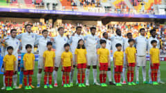SUWON, SOUTH KOREA - JUNE 11:  England line up prior to the FIFA U-20 World Cup Korea Republic 2017 Final between Venezuela and England at Suwon World Cup Stadium on June 11, 2017 in Suwon, South Korea.  (Photo by Maddie Meyer - FIFA/FIFA via Getty Images)