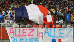 PORT MORESBY, PAPUA NEW GUINEA - DECEMBER 03:  France fans during the FIFA U-20 Women's World Cup, Final match between Korea DPRand France at the National Football Stadium on December 3, 2016 in Port Moresby, Papua New Guinea.  (Photo by Ian Walton - FIFA/FIFA via Getty Images)