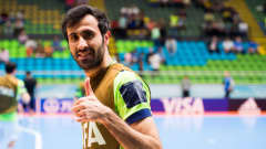 MEDELLIN, COLOMBIA - SEPTEMBER 27: Ahmad Esmaeilpour of Iran gives his thumb up before the FIFA Futsal World Cup Semi-Final match between Iran and Russia at Coliseo Ivan de Bedout stadium on September 27, 2016 in Medellin, Colombia. (Photo by Alex Caparros - FIFA/FIFA via Getty Images)