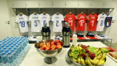 GDYNIA, POLAND - JUNE 11: A general view inside the Italy dressing room ahead of the 2019 FIFA U-20 World Cup Semi Final match between Ukraine and Italy at Gdynia Stadium on June 11, 2019 in Gdynia, Poland. (Photo by Lars Baron - FIFA/FIFA via Getty Images)