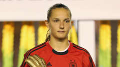TOKYO, JAPAN - SEPTEMBER 08:  Laura Benkarth of Germany wins the adidas Golden Glove during the FIFA U-20 Women's World Cup Final match between USA and Germany at the National Stadium on September 8, 2012 in Tokyo, Japan.  (Photo by Ian Walton - FIFA/FIFA via Getty Images)