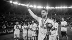 Sergio Ramos of Real Madrid celebrates with the trophy 0001-01-01 00:00:00