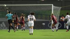 Though the hosts failed to pick up a point in their three matches at FIFA U-17 Women's World Cup Jordan 2016, they did make a little piece of history when Sarah Abu-Sabbah scored the nation's first ever World Cup goal. It was no ordinary strike either, with the No10 leaving two Mexico defenders trailing in her wake as she cut in from the right and fired a superb shot into the top corner.