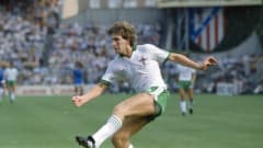 1982 World Cup Finals, Second Phase, Madrid, Spain, 4th July, 1982, France 4 v Northern Ireland 1, Northern Ireland's Norman Whiteside (Photo by Bob Thomas/Getty Images)