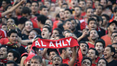 Al-Ahly fans cheer prior to their African Champions League second leg final