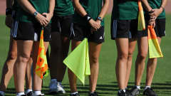 BAKU, AZERBAIJAN - OCTOBER 01: Detail of the Assistant Referees flags during a FIFA Referee training session on October 1, 2012 in Baku, Azerbaijan. (Photo by Steve Bardens - FIFA/FIFA via Getty Images)