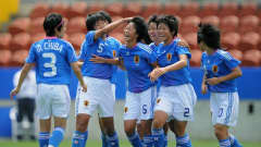 Japan's players celebrate their victory against USA