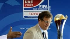 Jerome Valcke, secretary general of FIFA, arrives to attend a press conference after the unveiling ceremony of the the FIFA Club World Cup 2009 official emblem in Abu Dhabi