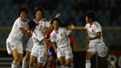 PORT OF SPAIN, TRINIDAD AND TOBAGO - SEPTEMBER 25: Hikaru Naomoto of Japan celebrates her goal during the FIFA U17 Women's World Cup Final between South Korea and Japan at the Hasely Crawford Stadium on September 25, 2010 in Port of Spain, Trinidad And Tobago. (Photo by Laurence Griffiths - FIFA/FIFA via Getty Images)