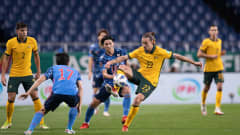 Japan vs Australia during their Asian Qualifiers Final Round Group B match at Saitama Stadium 2002 on October 12, 2021 in Saitama, Japan. Photo by Shun Kondo / Power Sport Images for The AFC