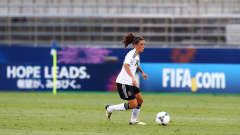 SAITAMA, JAPAN - AUGUST 31:  Ramona Petzelberger of Germany runs with the ball during the FIFA U-20 Women's World Cup Japan 2012, Quarter Final match between Germany and Norway at Komaba Stadium on August 31, 2012 in Saitama, Japan.  (Photo by Martin Rose - FIFA/FIFA via Getty Images)