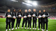 Ball kids ahead a match in the 2019 FIFA Club World Cup
