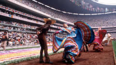 On 31 May 1986, Mexico welcomed the world to the 13th edition of the FIFA Word Cup™. Pictured here are performers at the Opening Ceremony in the Estadio Azteca prior to the Opening Match between Bulgaria and defending champions Italy. The two teams battled to a 1-1 draw.