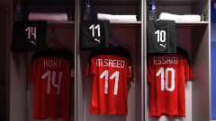 VILNIUS, LITHUANIA - SEPTEMBER 18: A general view of the Egyptians dressing room prior to the FIFA Futsal World Cup 2021 group B match between Egypt and Uzbekistan at Vilnius Arena on September 18, 2021 in Vilnius, Lithuania. (Photo by Alex Caparros - FIFA/FIFA via Getty Images)