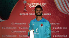 DOHA, QATAR - FEBRUARY 11: Mohamed El Shenawy of Al Ahly SC poses after being named Player of the Match during the FIFA Club World Cup Qatar 2020 3rd Place Play off match between Al Ahly and SE Palmeiras at the Education City Stadium on February 11, 2021 in Doha, Qatar. (Photo by David Ramos - FIFA/FIFA via Getty Images)