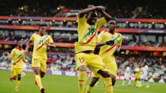 AUCKLAND, NEW ZEALAND - JUNE 20: Mali celebrates during the FIFA U-20 World Cup Third Place Play-off match between Senegal and Mali at North Harbour Stadium on June 20, 2015 in Auckland, New Zealand.  (Photo by Hannah Peters/Getty Images)