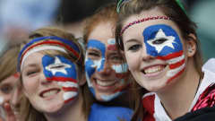 USA's fans support their team against France