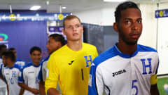 CHEONAN, SOUTH KOREA - MAY 22: Dylan Andrade of Honduras waits to lead his team onto the pitch before the FIFA U-20 World Cup Korea Republic 2017 group E match between France and Honduras at Cheonan Baekseok Stadium on May 22, 2017 in Cheonan, South Korea. (Photo by Maddie Meyer - FIFA/FIFA via Getty Images)