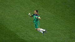 Spain's Iker Casillas celebrates upon hearing the final whistle in the 2010 FIFA World Cup South Africa™ Final. Casillas won the adidas Golden Glove for the tournament's best goalkeeper.