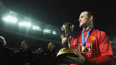 Manchester United's Wayne Rooney celebrates winning the FIFA Club World Cup Japan 2008