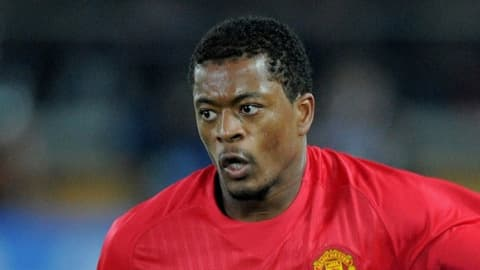 Patrice Evra in action during the game Gamba Osaka - Manchester United, for the FIFA Club World Cup Japan 2008 semi-final, Yokohama, 18 December 2008.