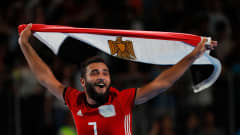 BUENOS AIRES, ARGENTINA - OCTOBER 18:  Belal Elsayed #7 of Egypt celebrates their 5-4 win over Argentina in the Men's Futsal 3rd Place match between Egypt and Argentina during the Buenos Aires Youth Olympics 2018 at Tecn—polis on October 18, 2018 in Buenos Aires, Argentina.  (Photo by Kevin C. Cox - FIFA/FIFA via Getty Images)