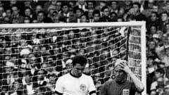 1966 FIFA World Cup England  Final: Germany - England 2:4 (extra time)  Bobby Charlton (ENG, ri) and Franz Beckenbauer (GER, le)