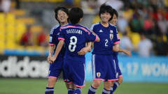 Hina Sugita of Japan celebrates her goal during the FIFA U-17 Women's World Cup Quarter Final match between Japan and Mexico at Edgardo Baltodano Briceno on March 27, 2014 in Liberia, Costa Rica.  (Photo by Jamie McDonald - FIFA/FIFA via Getty Images)