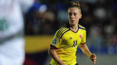 BAKU, AZERBAIJAN - SEPTEMBER 29: Nicole Regnier of Colombia in action during the FIFA U-17 Women's World Cup 2012 Group A match between Colombia and Nigeria at Bayil Stadium on September 29, 2012 in Baku, Azerbaijan. (Photo by Jamie McDonald - FIFA/FIFA via Getty Images)