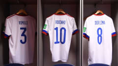 VILNIUS, LITHUANIA - SEPTEMBER 22: General view inside of the changing rooms of Football Union of Russia ahead of the FIFA Futsal World Cup 2021 Round of 16 match between Football Union of Russia and Vietnam at Vilnius Arena on September 22, 2021 in Vilnius, Lithuania. (Photo by Alex Caparros - FIFA/FIFA via Getty Images)
