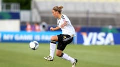 SAITAMA, JAPAN - AUGUST 31: Jennifer Cramer of Germany runs with the ball during the FIFA U-20 Women's World Cup Japan 2012, Quarter Final match between Germany and Norway at Komaba Stadium on August 31, 2012 in Saitama, Japan.  (Photo by Martin Rose - FIFA/FIFA via Getty Images)