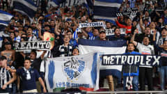 DOHA, QATAR - DECEMBER 21: Fans of C.F. Monterrey show their support during the FIFA Club World Cup Qatar 2019 3rd place match between Monterrey and Al Hilal FC at Khalifa International Stadium on December 21, 2019 in Doha, Qatar. (Photo by Mike Hewitt - FIFA/FIFA via Getty Images)