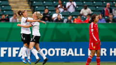 EDMONTON, AB - AUGUST 08:  Pauline Bremer of Germany celebrates scoring a goal against China PR at Commonwealth Stadium on August 8, 2014 in Edmonton, Canada.  (Photo by Kevin C. Cox - FIFA/FIFA via Getty Images)