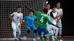 BUENOS AIRES, ARGENTINA - OCTOBER 09: Ronado Cromwell #4 of Costa Rica shoots a free kick at goal in the Men's Group B match between Solomon Islands and Costa Rica during the Buenos Aires Youth Olympics 2018 at Tecnopolis on October 9, 2018 in Buenos Aires, Argentina.  (Photo by Martin Rose - FIFA/FIFA via Getty Images)
